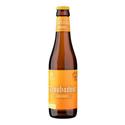 Bierflesje Troubadour Blond