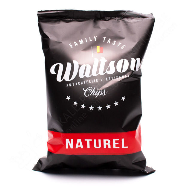 Zakje waltson chips - Naturel (125 g)