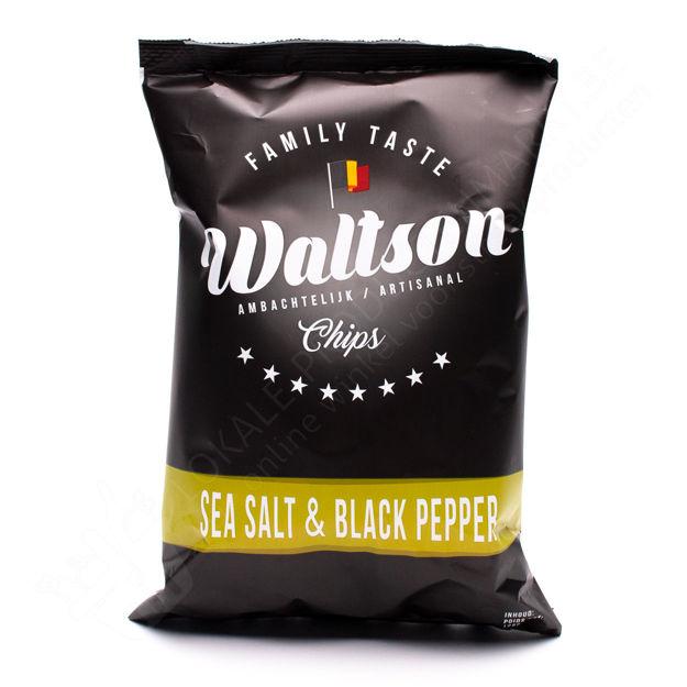 Zakje Waltson chips - Sea salt and black pepper (125 g)