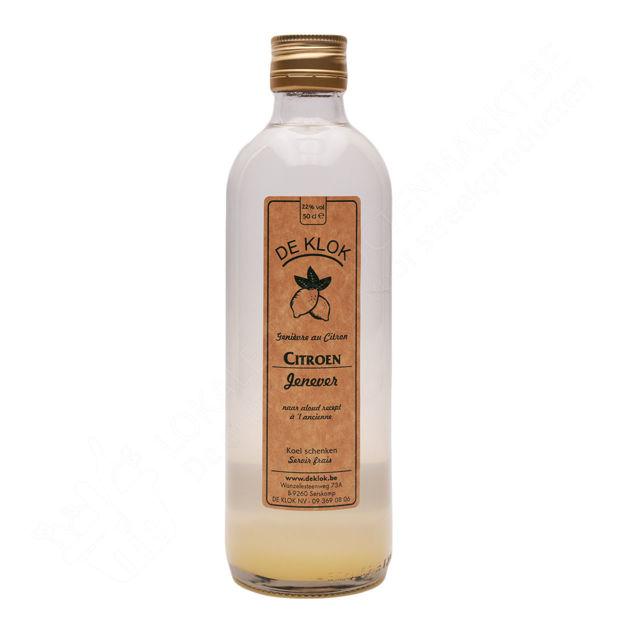 Fles De Klok - Citroenjenever met verse citroenen 22% (50 cl)