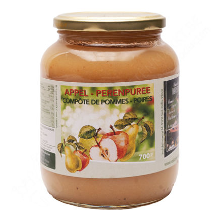 Bokaal Fruitbedrijf Berckelaer - Appel- en perenpuree (700 gr.)