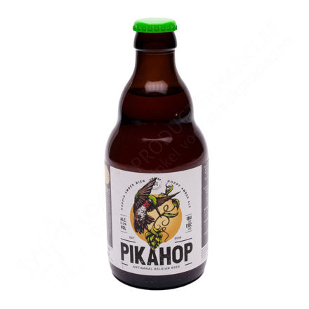 Flesje Pikahop - Hoppig amber bier 5,5 % (33 cl)